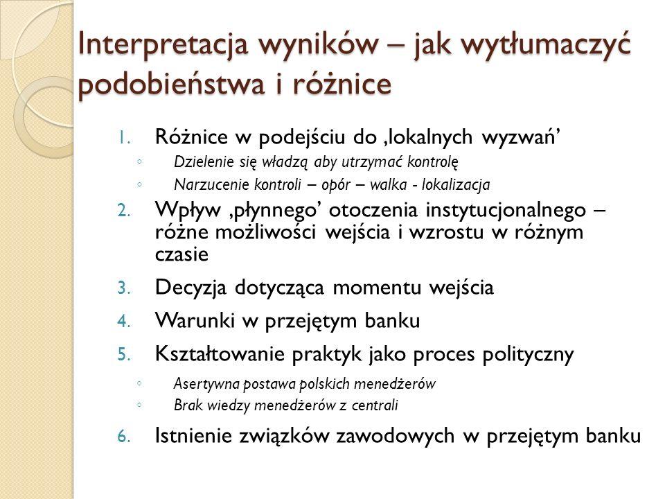 Interpretacja wyników – jak wytłumaczyć podobieństwa i różnice 1.