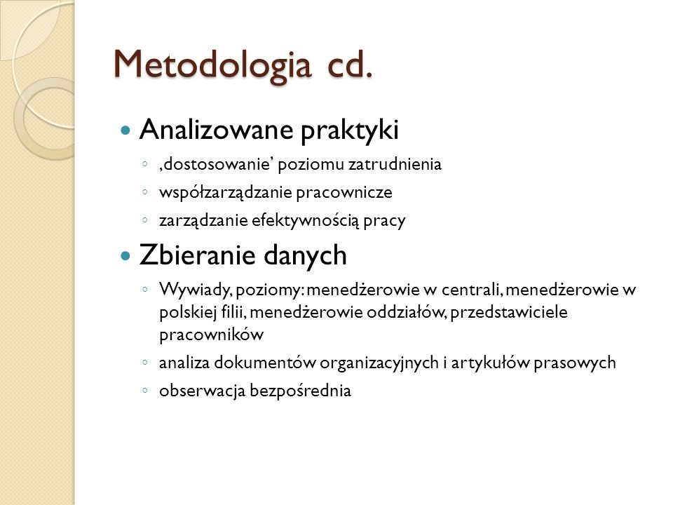Metodologia cd.