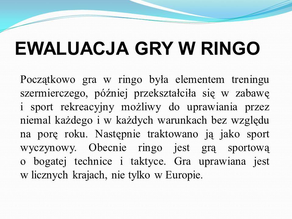 Gra została wymyślona przez znanego szermierza i dziennikarza Włodzimierza Strzyżewskiego w 1959 roku, natomiast jako polski sport o charakterze indyw