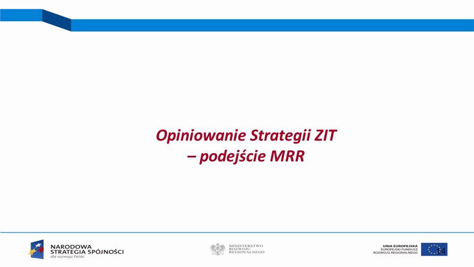 14 Opiniowanie Strategii ZIT – podejście MRR
