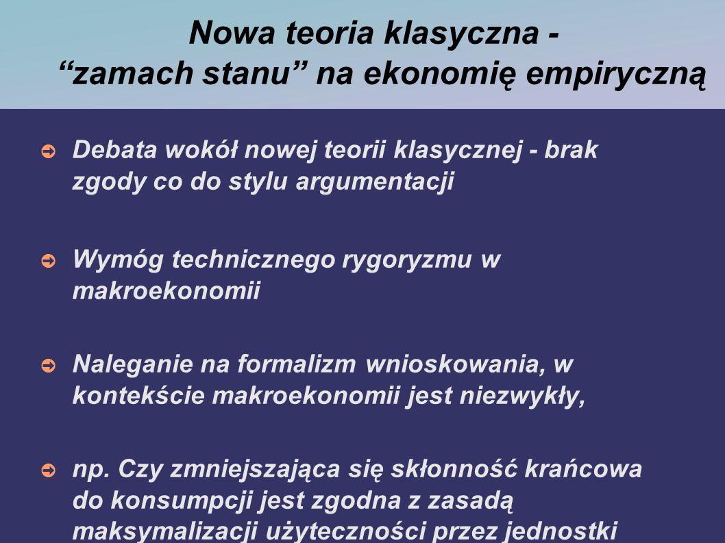 Opróżnianie rynku Lucasowska obrona założenia opróżniania się rynków odpowiada ekonomii formalno-naukowej.