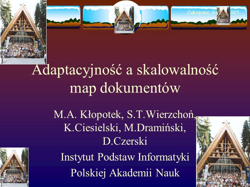 Adaptacyjność a skalowalność map dokumentów M.A.