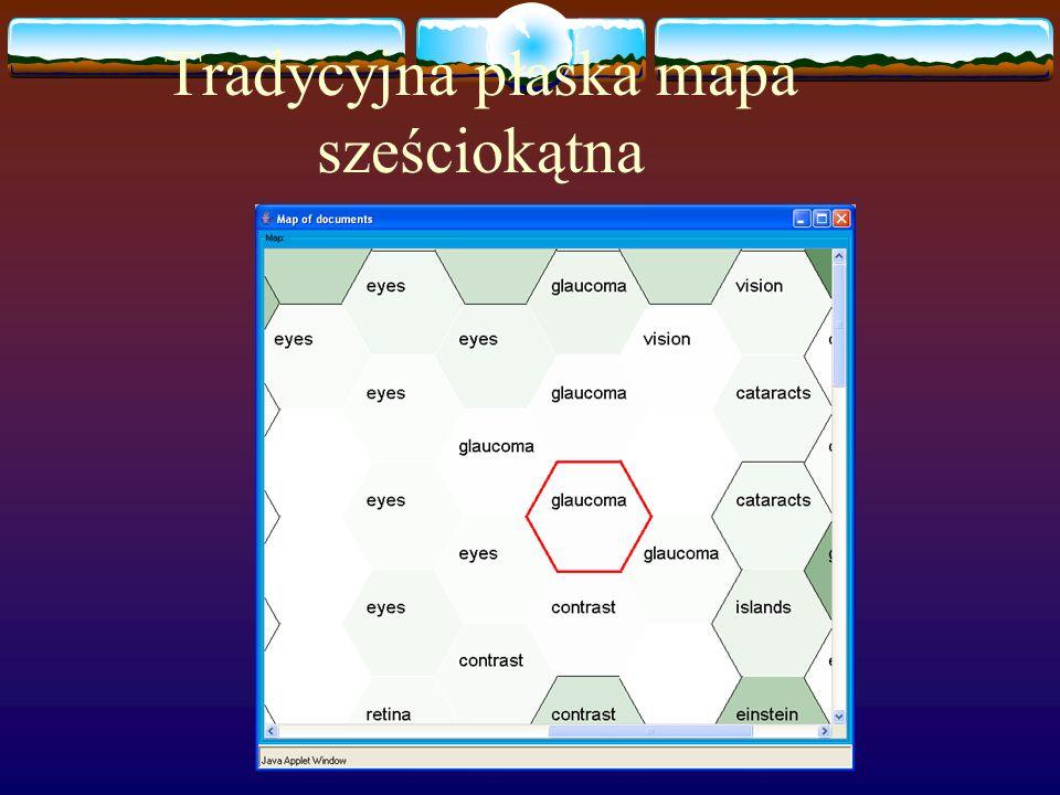 Tradycyjna płaska mapa sześciokątna