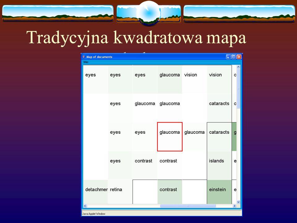 Tradycyjna kwadratowa mapa płaska