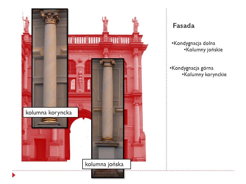 Fasada kolumna jońska kolumna koryncka Kondygnacja górna Kolumny korynckie Kondygnacja dolna Kolumny jońskie