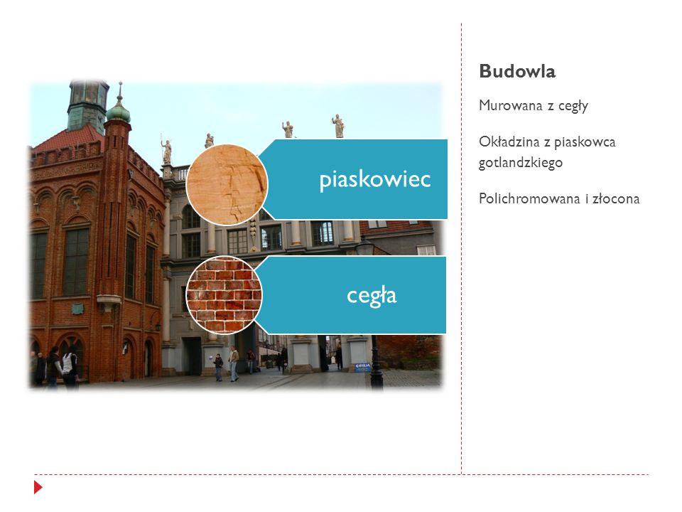 Budowla Murowana z cegły Okładzina z piaskowca gotlandzkiego Polichromowana i złocona