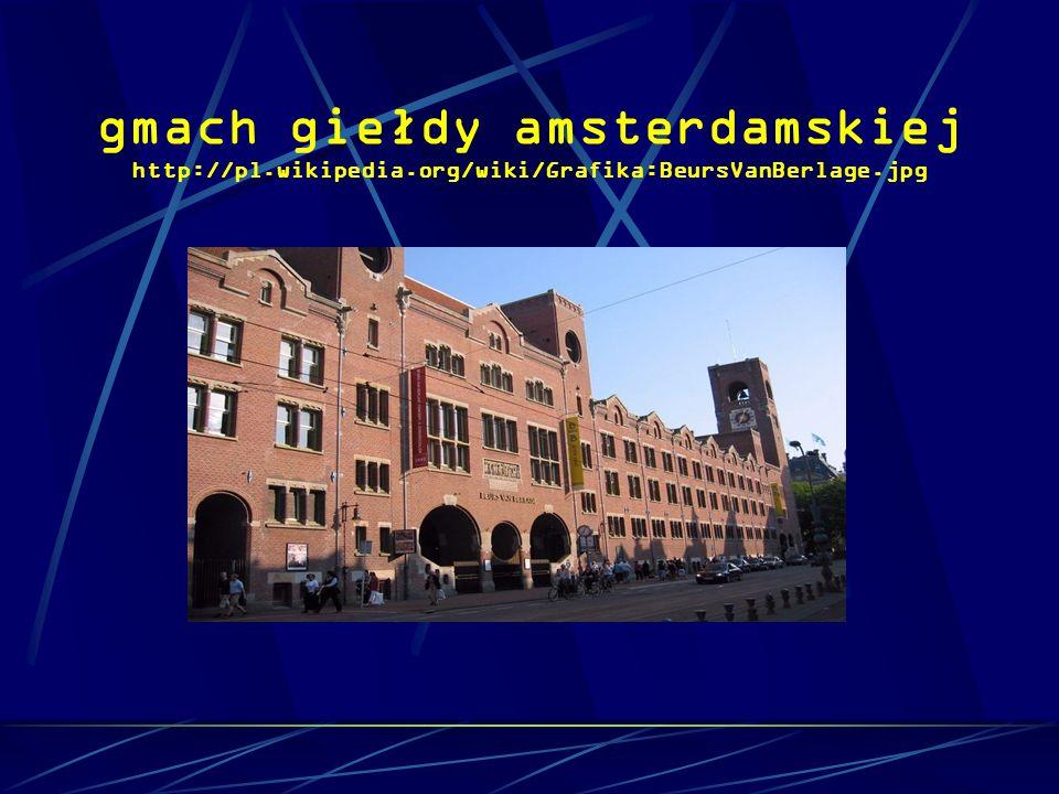 gmach giełdy amsterdamskiej http://pl.wikipedia.org/wiki/Grafika:BeursVanBerlage.jpg