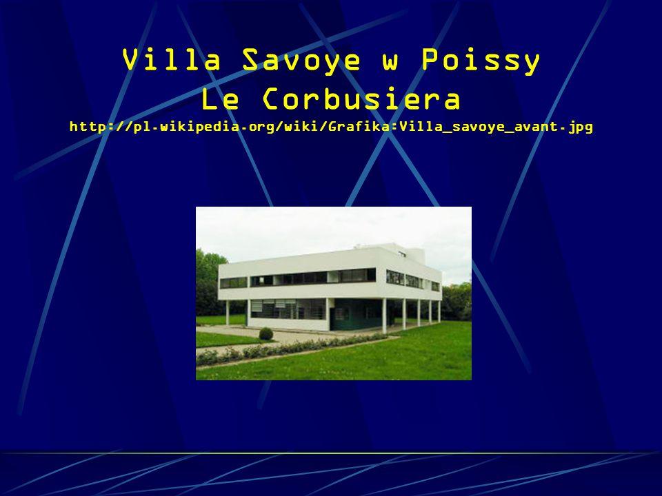 Villa Savoye w Poissy Le Corbusiera http://pl.wikipedia.org/wiki/Grafika:Villa_savoye_avant.jpg