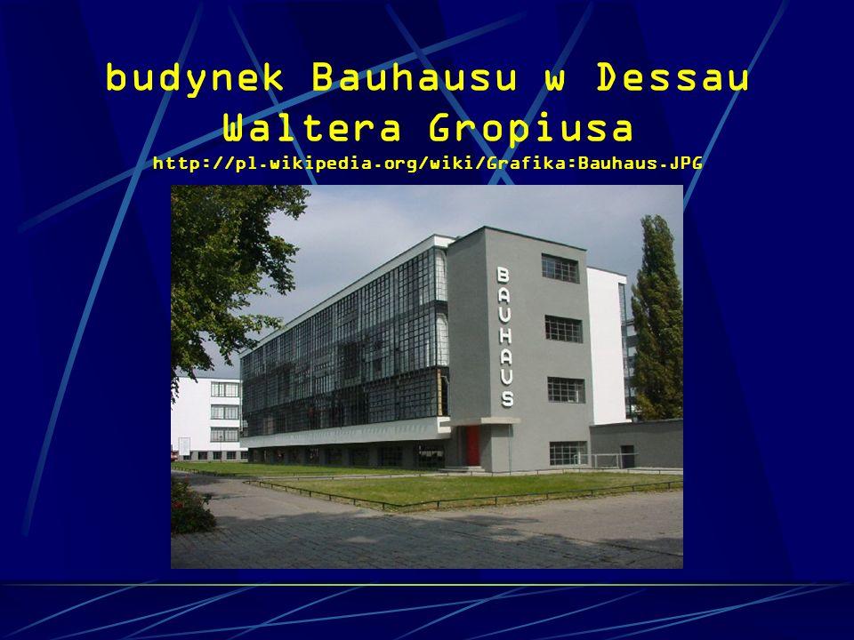 budynek Bauhausu w Dessau Waltera Gropiusa http://pl.wikipedia.org/wiki/Grafika:Bauhaus.JPG