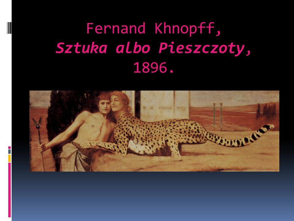 Fernand Khnopff, Sztuka albo Pieszczoty, 1896.