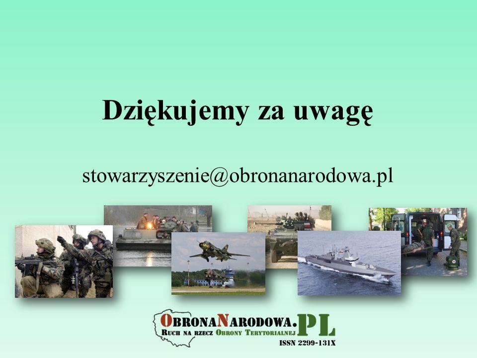Dziękujemy za uwagę stowarzyszenie@obronanarodowa.pl