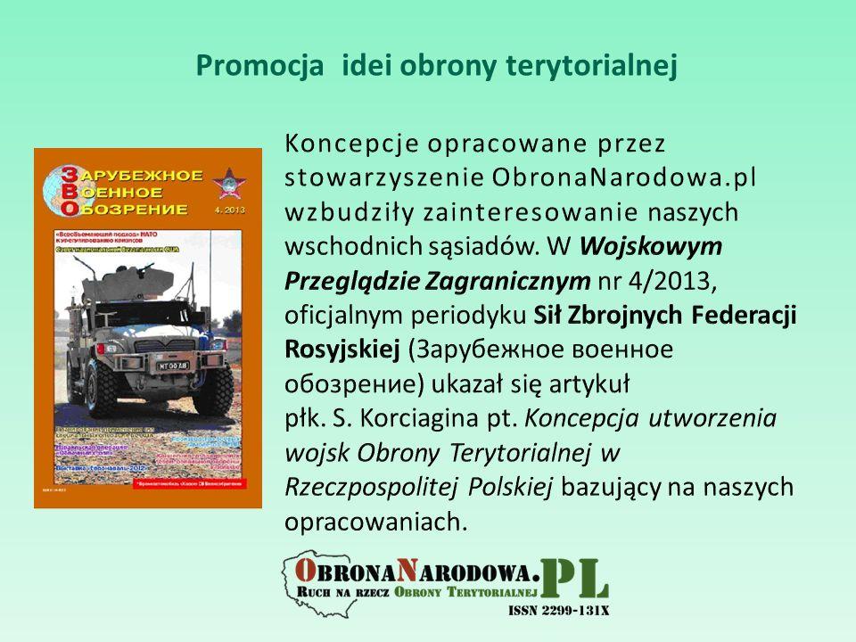 Promocja idei obrony terytorialnej