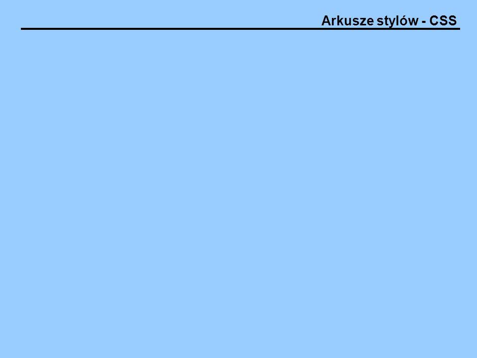 Arkusze stylów - CSS