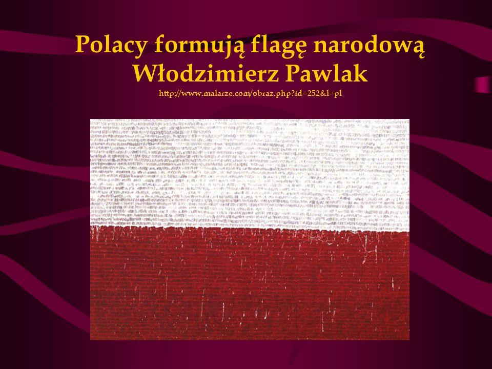 Polacy formują flagę narodową Włodzimierz Pawlak http://www.malarze.com/obraz.php?id=252&l=pl