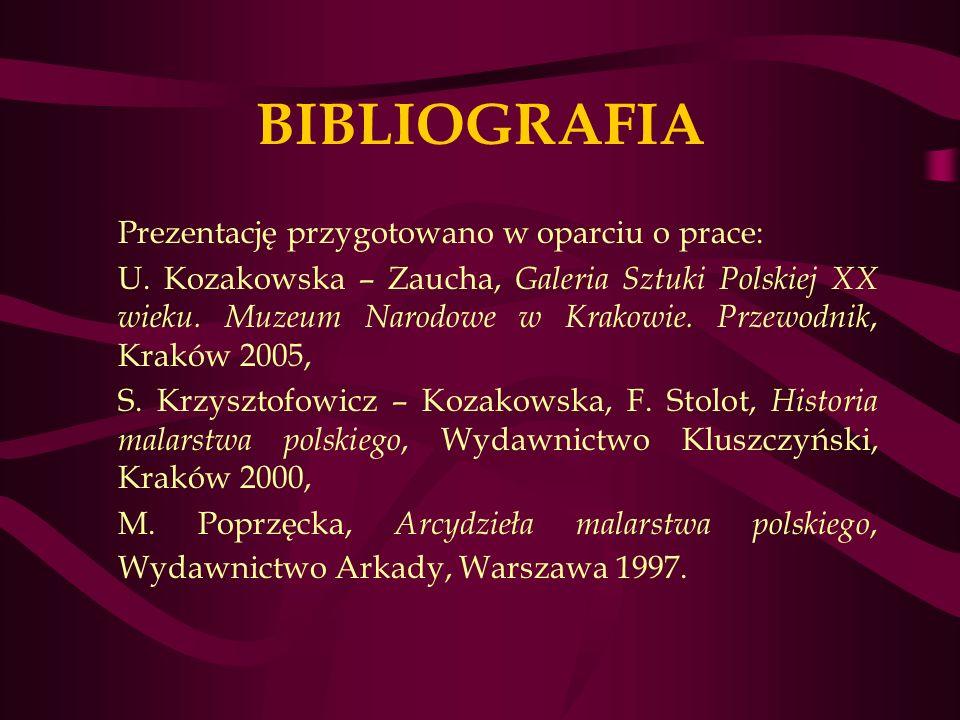 BIBLIOGRAFIA Prezentację przygotowano w oparciu o prace: U.