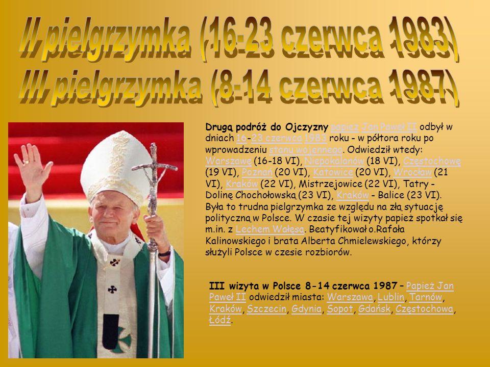 I pielgrzymka Jana Pawła II do Ojczyzny przebiegała pod hasłem Gaude Mater Polonia.