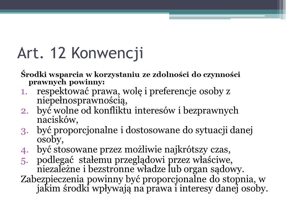Art.12 a cel Konwencji Art.