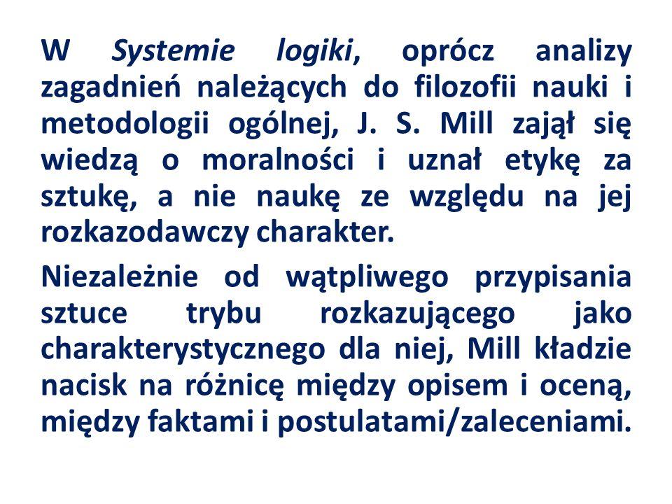 W Systemie logiki, oprócz analizy zagadnień należących do filozofii nauki i metodologii ogólnej, J.