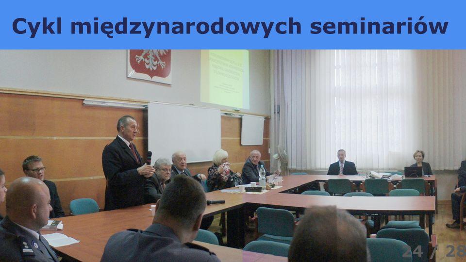 Cykl międzynarodowych seminariów 24 / 28