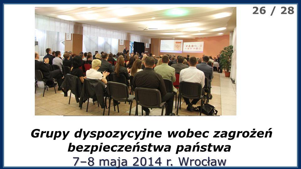 XXV Międzynarodowa Konferencja Naukowa 7–8 maja 2014 r.