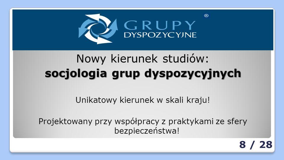 Nowy kierunek studiów: socjologia grup dyspozycyjnych Unikatowy kierunek w skali kraju.