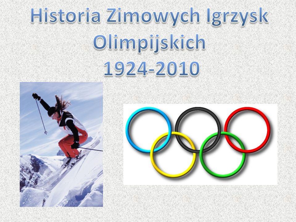 I Zimowe Igrzyska Olimpijskie odbyły się we francuskiej miejscowości Chamonix w 1924.