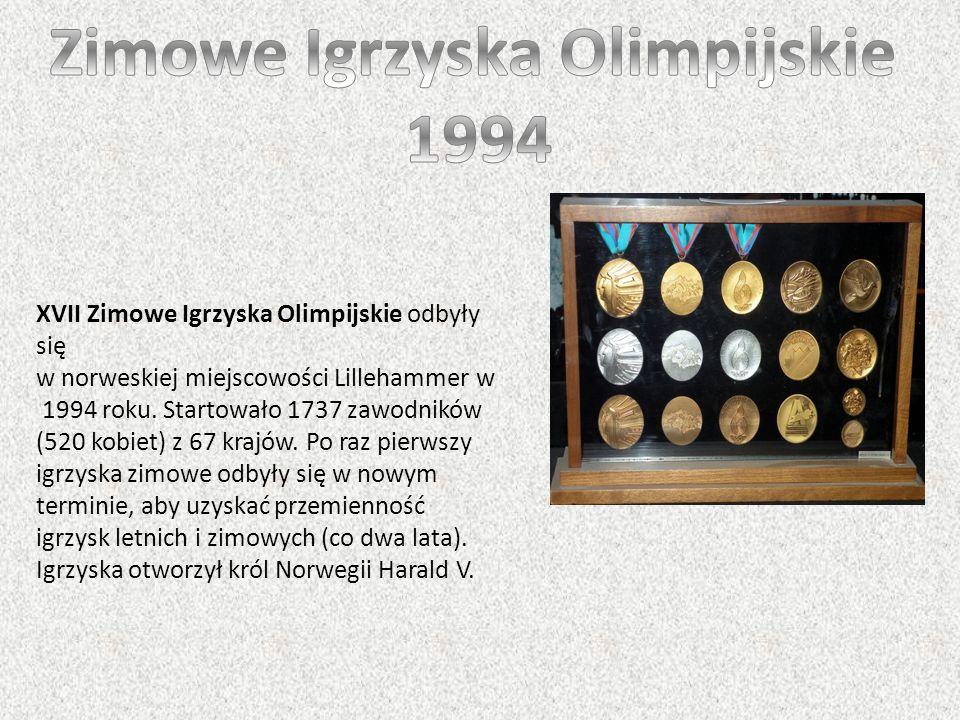 XVII Zimowe Igrzyska Olimpijskie odbyły się w norweskiej miejscowości Lillehammer w 1994 roku. Startowało 1737 zawodników (520 kobiet) z 67 krajów. Po