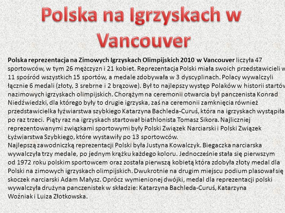 Polska reprezentacja na Zimowych Igrzyskach Olimpijskich 2010 w Vancouver liczyła 47 sportowców, w tym 26 mężczyzn i 21 kobiet. Reprezentacja Polski m
