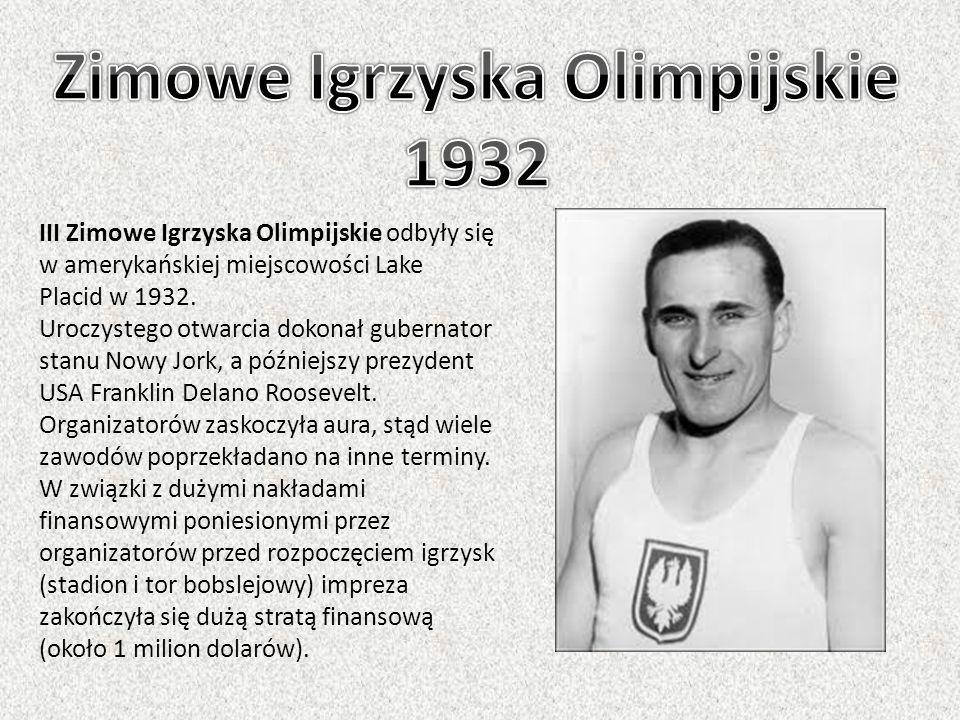 III Zimowe Igrzyska Olimpijskie odbyły się w amerykańskiej miejscowości Lake Placid w 1932. Uroczystego otwarcia dokonał gubernator stanu Nowy Jork, a