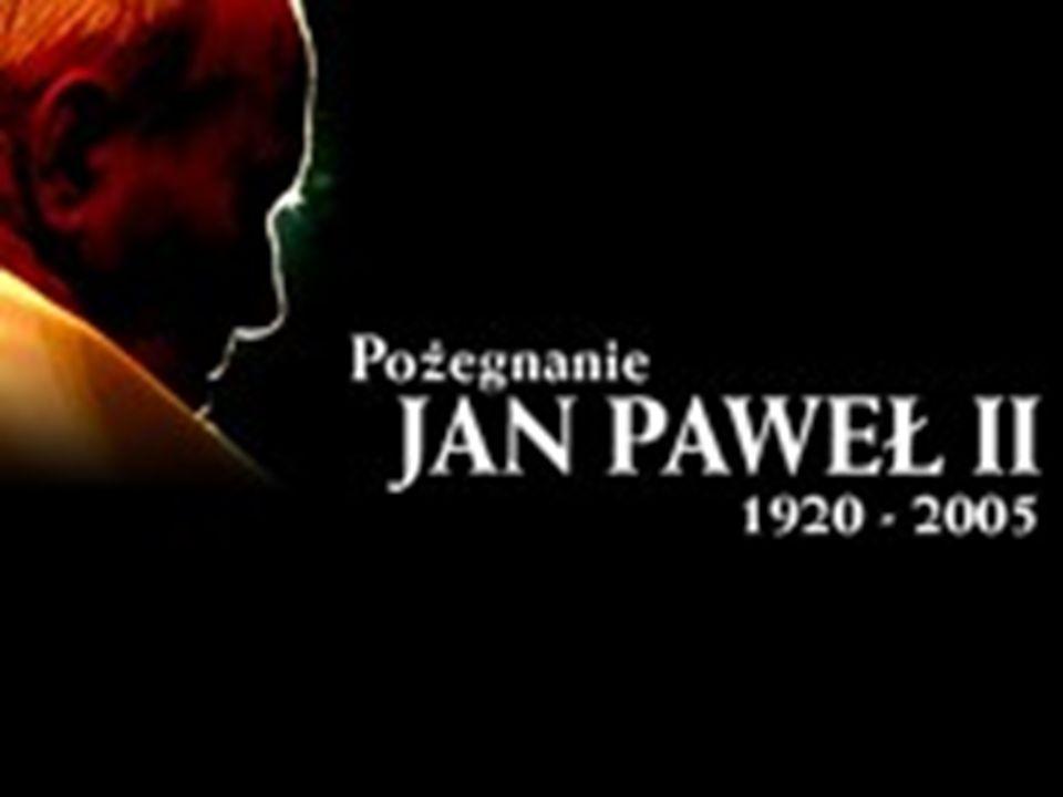 Pogrzeb Pogrzeb Jana Pawła II odbył się w piątek 8 kwietnia 2005 r. Trumnę z prostych desek z drewna cyprysowego (symbolu nieśmiertelności) ustawiono