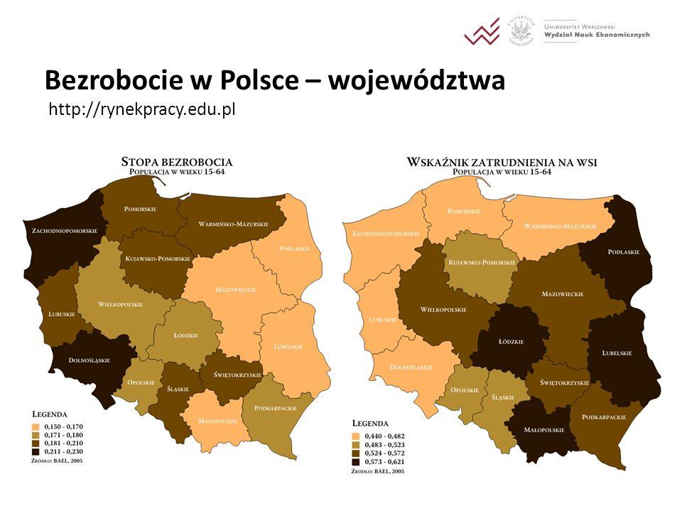 Bezrobocie w Polsce – województwa http://rynekpracy.edu.pl