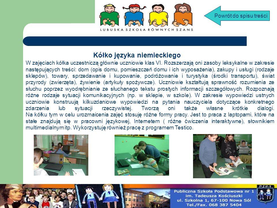 KÓŁKO JĘZYKA ANGIELSKIEGO DLA KLAS IV-VI W zajęciach kółka języka angielskiego aktywnie uczestniczą dzieci z klas IV-VI.