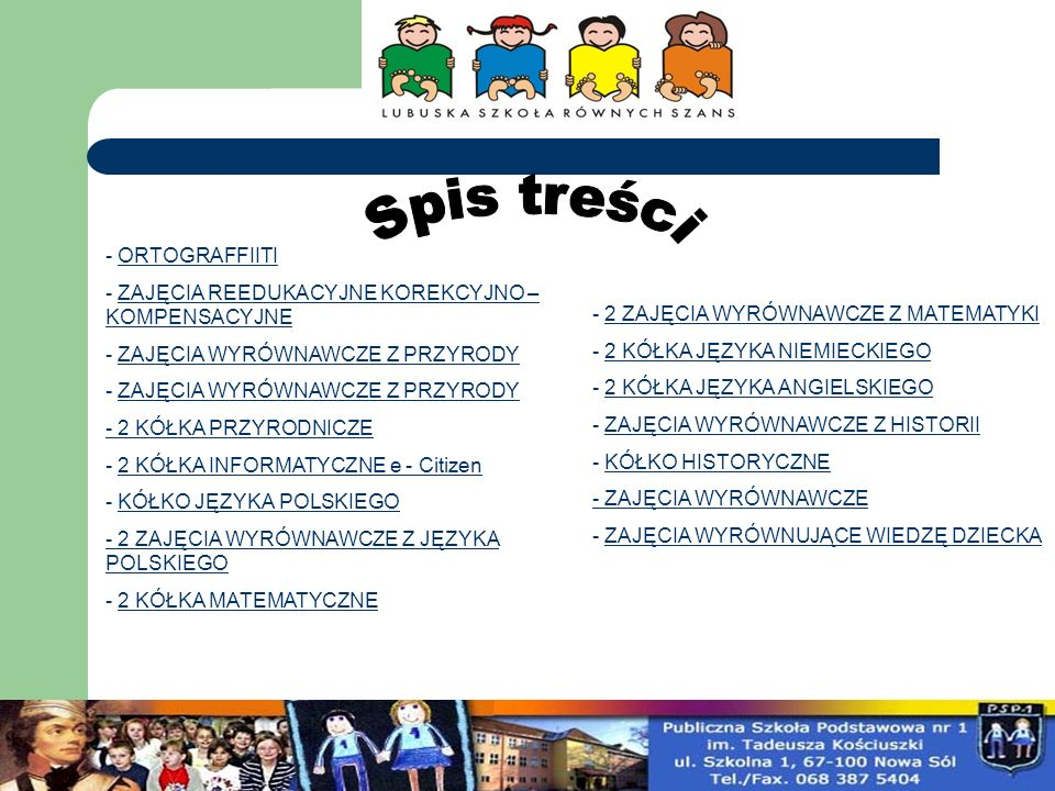 W ramach projektu współfinansowanego przez Unię Europejskiego Funduszu Społecznego LUBUSKA SZKOŁA RÓWNYCH SZANS, od września działa w naszej szkole koło ORTOGRAFFITI.