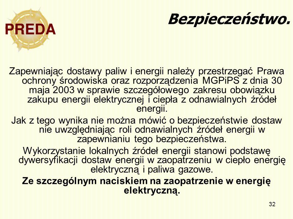 32 Bezpieczeństwo. Zapewniając dostawy paliw i energii należy przestrzegać Prawa ochrony środowiska oraz rozporządzenia MGPiPS z dnia 30 maja 2003 w s