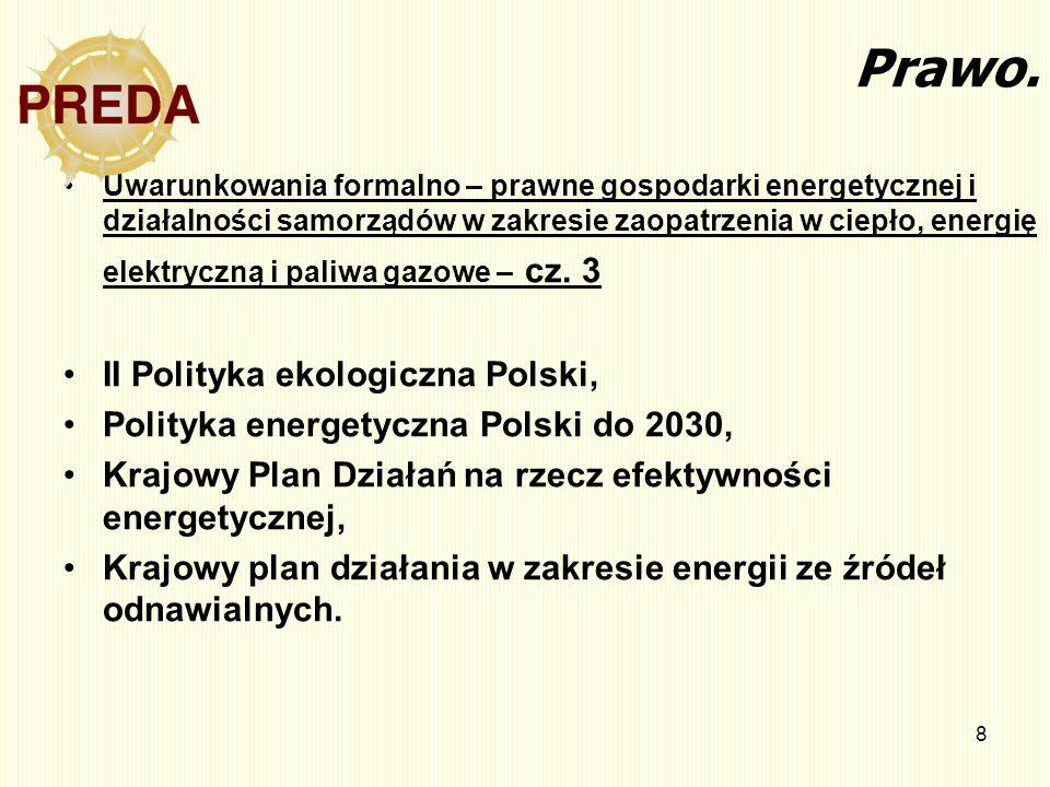 8 Prawo. Uwarunkowania formalno – prawne gospodarki energetycznej i działalności samorządów w zakresie zaopatrzenia w ciepło, energię elektryczną i pa