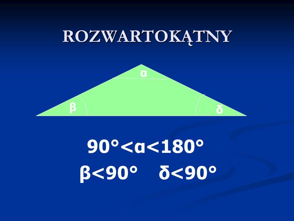 Boki trójkąta prostokątnego przeciwprostokątna przyprostokątna.