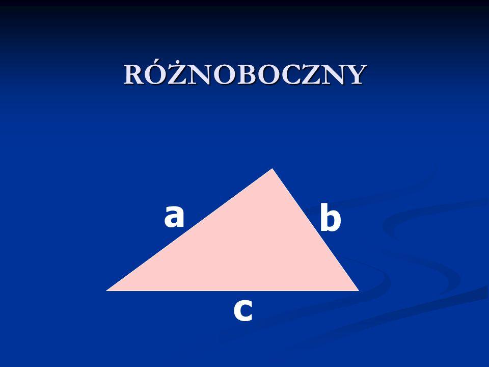 RÓWNORAMIENNE Wśród boków wyróżniamy: Wśród boków wyróżniamy: podstawę i podstawę i dwa ramiona tej samej długości.