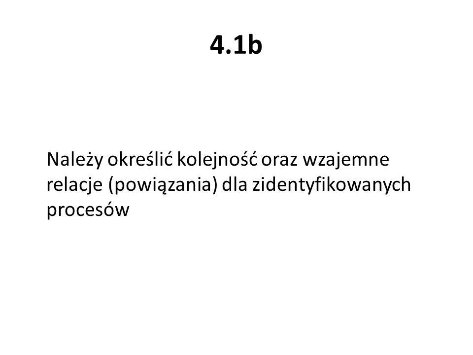 4.1b Należy określić kolejność oraz wzajemne relacje (powiązania) dla zidentyfikowanych procesów