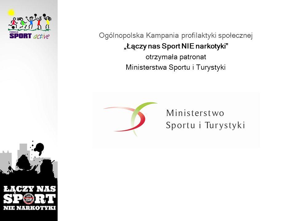 Ogólnopolska Kampania profilaktyki społecznej Łączy nas Sport NIE narkotyki otrzymała patronat Ministerstwa Sportu i Turystyki