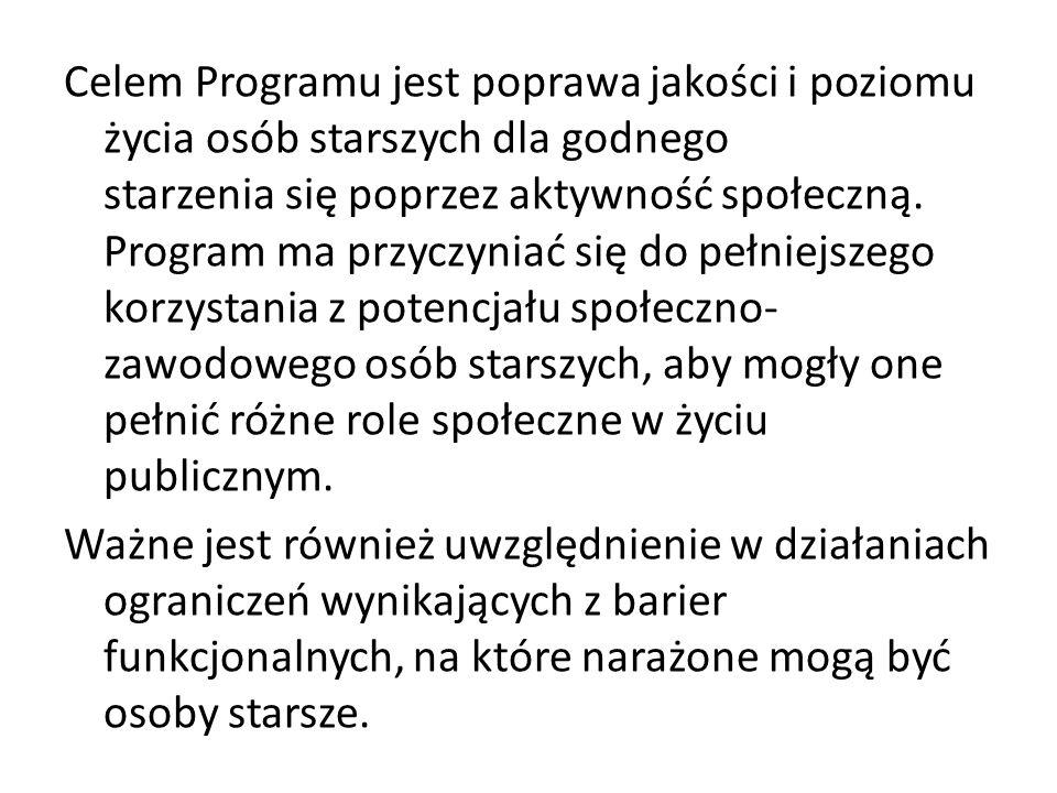 Cel główny Programu będzie realizowany przez cele szczegółowe: Cel szczegółowy 1.