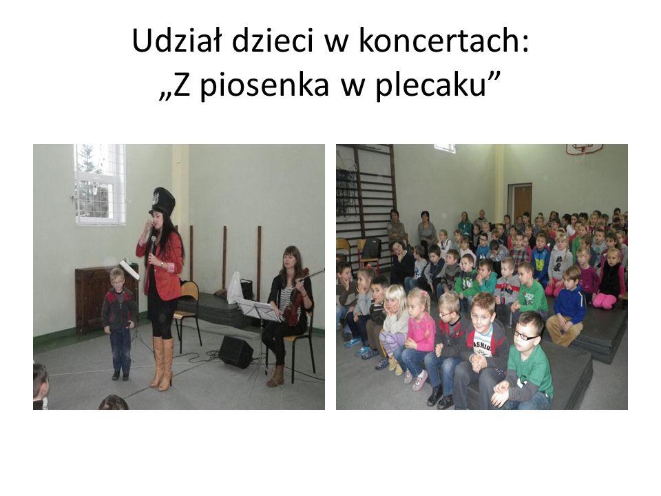 Udział dzieci w koncertach: Z piosenka w plecaku