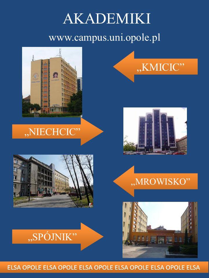 ELSA OPOLE ELSA OPOLE ELSA OPOLE ELSA OPOLE ELSA OPOLE ELSA AKADEMIKI www.campus.uni.opole.pl NIECHCIC SPÓJNIK KMICIC MROWISKO