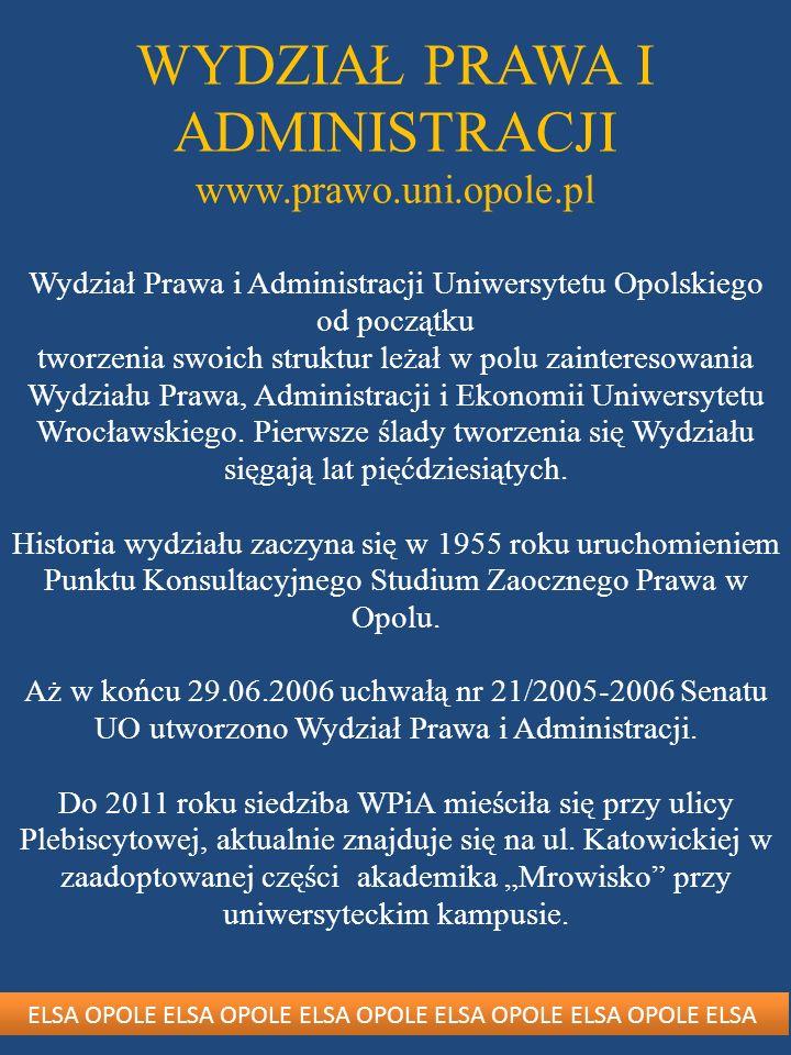 Wydział Prawa i Administracji UO to przede wszystkim tworzący go ludzie – zaangażowani w swoją pracę wykładowcy, pracownicy administracji oraz studenci.