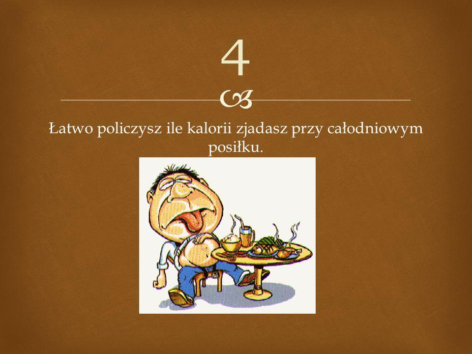 Łatwo policzysz ile kalorii zjadasz przy całodniowym posiłku. 4