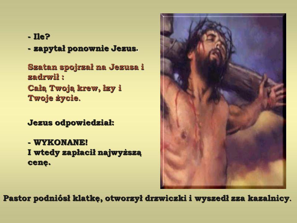 - A co zrobisz kiedy skończysz? - zapytał Jezus. -No, zabiję ich wszystkich -No, zabiję ich wszystkich - odpowiedział dumnie Szatan - odpowiedział dum