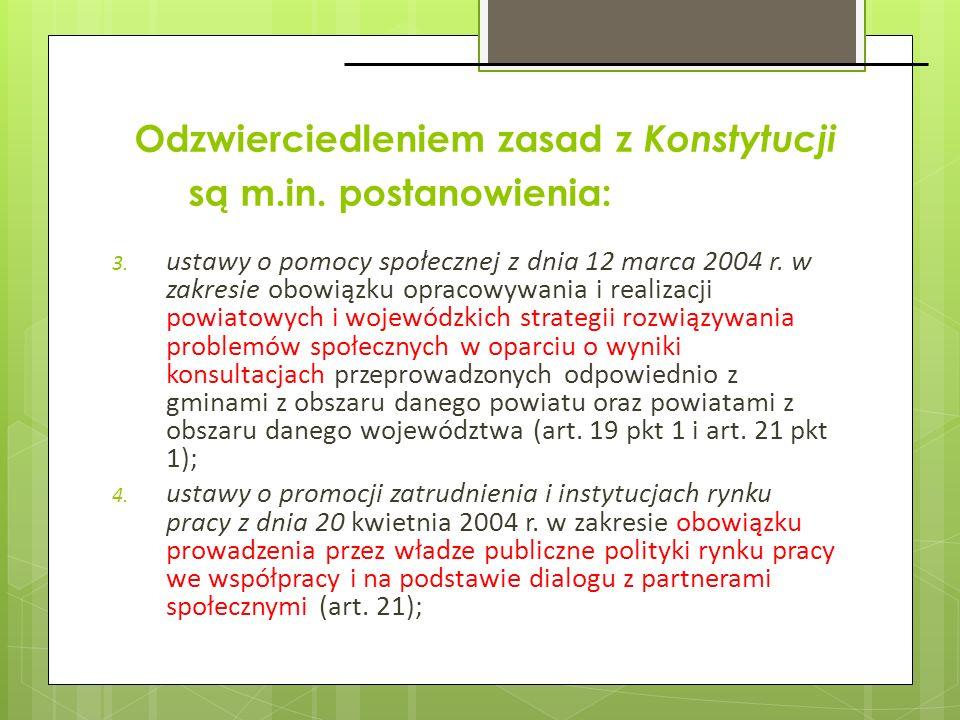 3. ustawy o pomocy społecznej z dnia 12 marca 2004 r. w zakresie obowiązku opracowywania i realizacji powiatowych i wojewódzkich strategii rozwiązywan