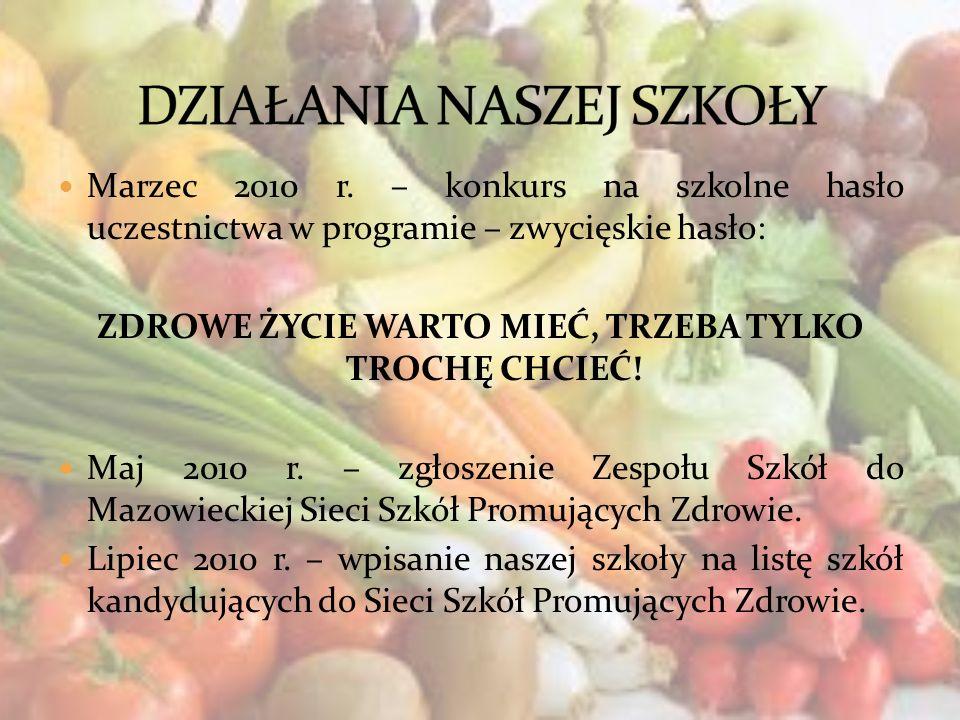 Rok szkolny 2010/2011: Kolorowe Dni – promowanie wartości odżywczych różnych warzyw i owoców oraz zabawa w przebieranie się w kolory danych warzyw lub owoców.