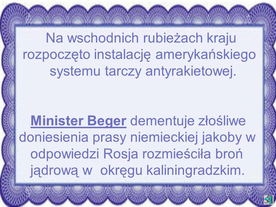 Minister Obrony Narodowej - Renata Beger oświadczyła, że liczba polskich żołnierzy stacjonujących w Iranie i Iraku zostanie zwiększona do sześciu i pó