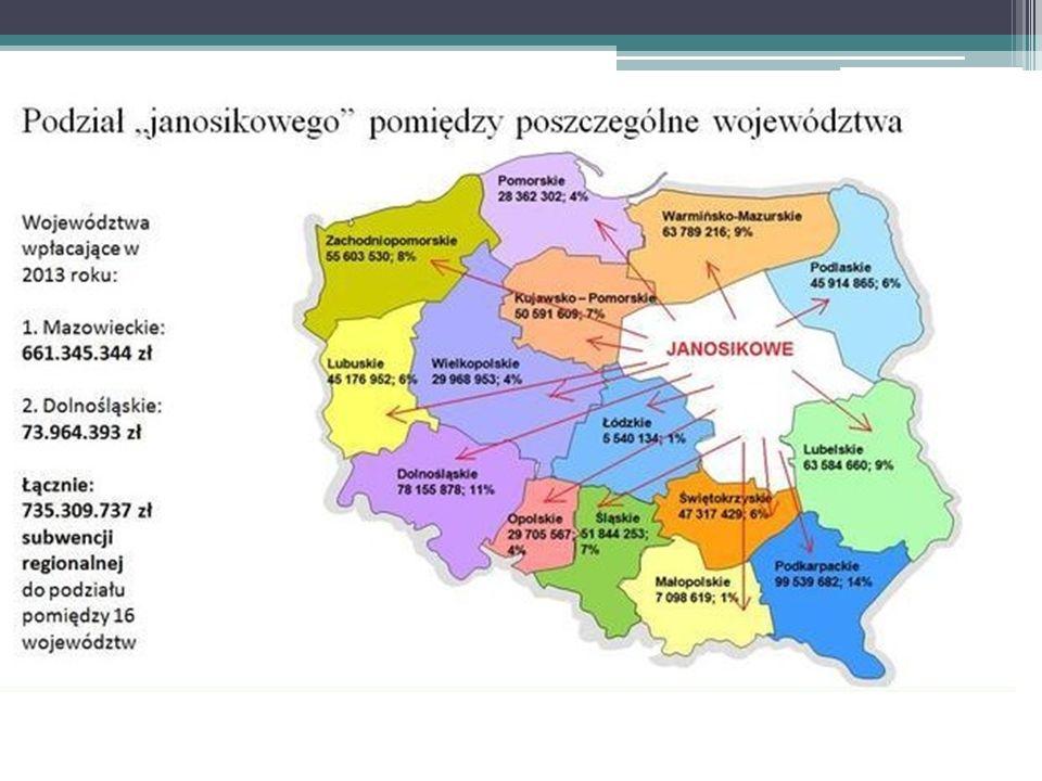 Jeżeli chodzi o województwa - Mazowsze, które w 2010 roku przekazało na rzecz innych województw aż 63% swoich dochodów podatkowych - w rankingu bogactwa województw liczonego wysokością tych dochodów w przeliczeniu na jednego mieszkańca, spadło z pierwszego miejsca na ostatnie…