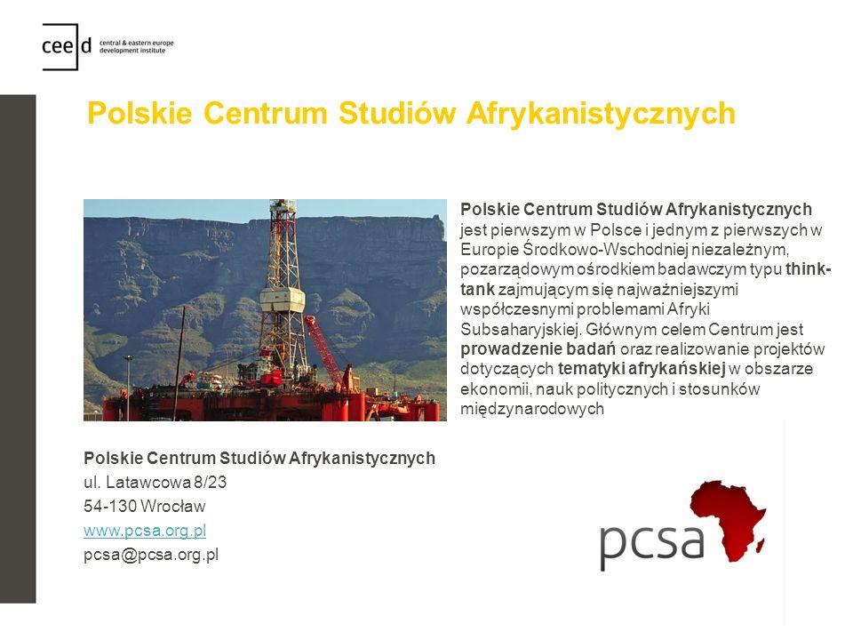 Polskie Centrum Studiów Afrykanistycznych Polskie Centrum Studiów Afrykanistycznych jest pierwszym w Polsce i jednym z pierwszych w Europie Środkowo-W